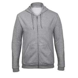 Hooded full zip Sweatshirt heather grey