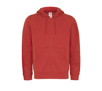 Hooded Full Zip Men rood