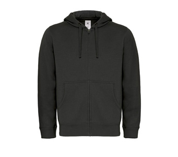Hooded Full Zip Men zwart